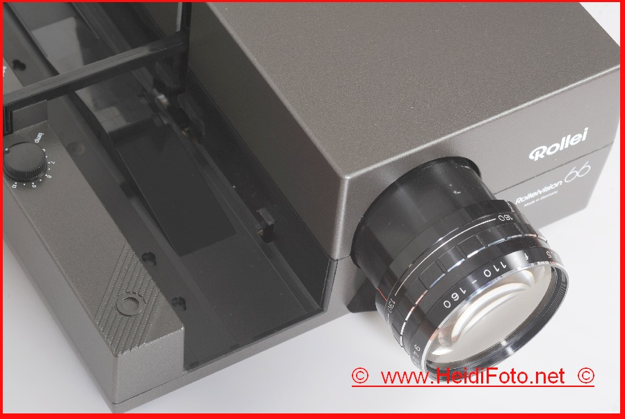 Rollei 66 m.110-160/3.5 Vario Heidosmat 6x6 Rolleivision Diaprojektor TOP !